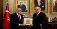KIBRIS BAŞBAKANI TATAR'DAN BELEN BELEDİYE BAŞKANI GÜL'E ZİYARET