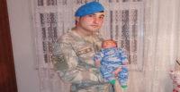 Suriye'de görevli asker yeni doğan oğlunu görüp döndü