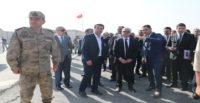 Hatay Valisi Doğan Afrin'de incelemelerde bulundu
