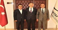 """GENEL SEKRETER YARDIMCISI  CANTÜRK'E NEZAKET ZİYARETİ"""""""