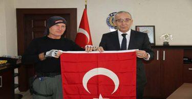 AK Partili başkandan Barış Pınarı Harekatı'na bisikletli destek