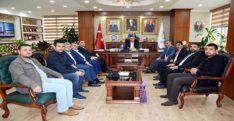 Özçelik- İş Sendikasından Başkan Gül'e Ziyaret