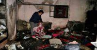 Evi yanan kanser hastası kadın yardım bekliyor