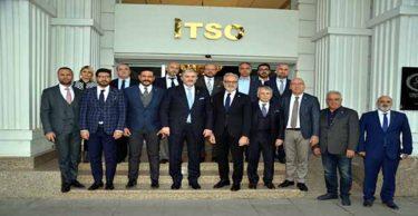MÜİSİAD Genel Başkanı Abdurrahman Kaan ve yönetimi İTSO'yu ziyaret etti