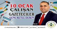 EMEKTAR GAZETECİLERİN GÜNLERİNİ KUTLUYORUM