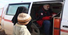İdlib'de çadırda yaşayan ailelere sağlık taraması yapıldı