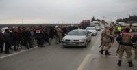 Hatay'da nakliyecilerden dijital takograf protestosu