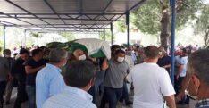 TRAFİK KAZASINDA ÖLEN AYNI AİLEDEN 3 KİŞİNİN CENAZESİ DEFNEDİLDİ