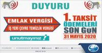 EMLAK VERGİSİ VE İŞYERİ ÇTV İÇİN SON ÖDEME GÜNÜ 31 MAYIS!