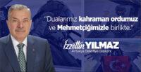 BAŞKAN YILMAZ'DAN PENÇE KARTAL HAREKÂTINA DESTEK