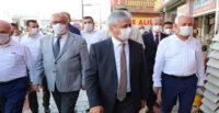 VALİ DOĞAN DÖRTYOL'DA COVİD-19 DENETİMİ YAPTI