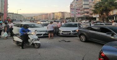 DEFNEDE ZİNCİRLEME KAZA MEYDANA GELDİ