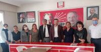 CHP İL BAŞKANI PARLAR, KIRIKHAN CHP'Yİ ZİYARET ETTİ