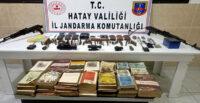 AMANOSLAR'DA PKK'LI TERÖRİSTLERE AİT SİLAH VE YAŞAM MALZEMELERİ ELE GEÇİRİLDİ