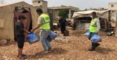 AFRİN'DEKİ SAVAŞ MAĞDURU SURİYELİLERİN SOFRALARINA HER GÜN SICAK YEMEK ULAŞTIRIYORLAR