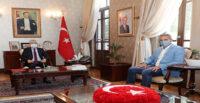 VALİ DOĞAN MUHANNAD HADİ'Yİ KABUL ETTİ